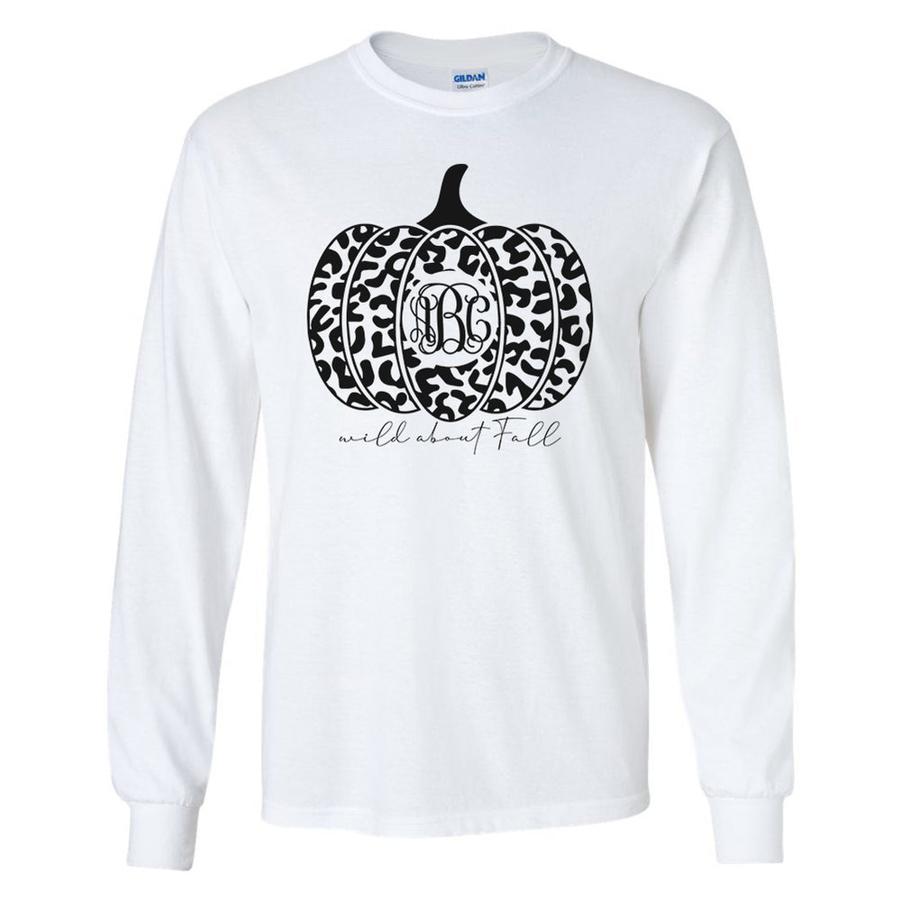Monogrammed Leopard Wild About Fall Shirt