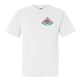White Comfort Colors TShirt with Watermelon Monogram