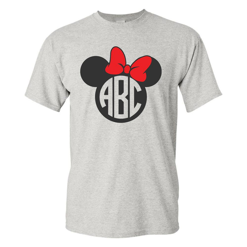 Monogrammed 'Mickey/Minnie' Big Print T-Shirt
