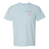 Monogrammed Mama Embroidery Star Retro T-Shirt