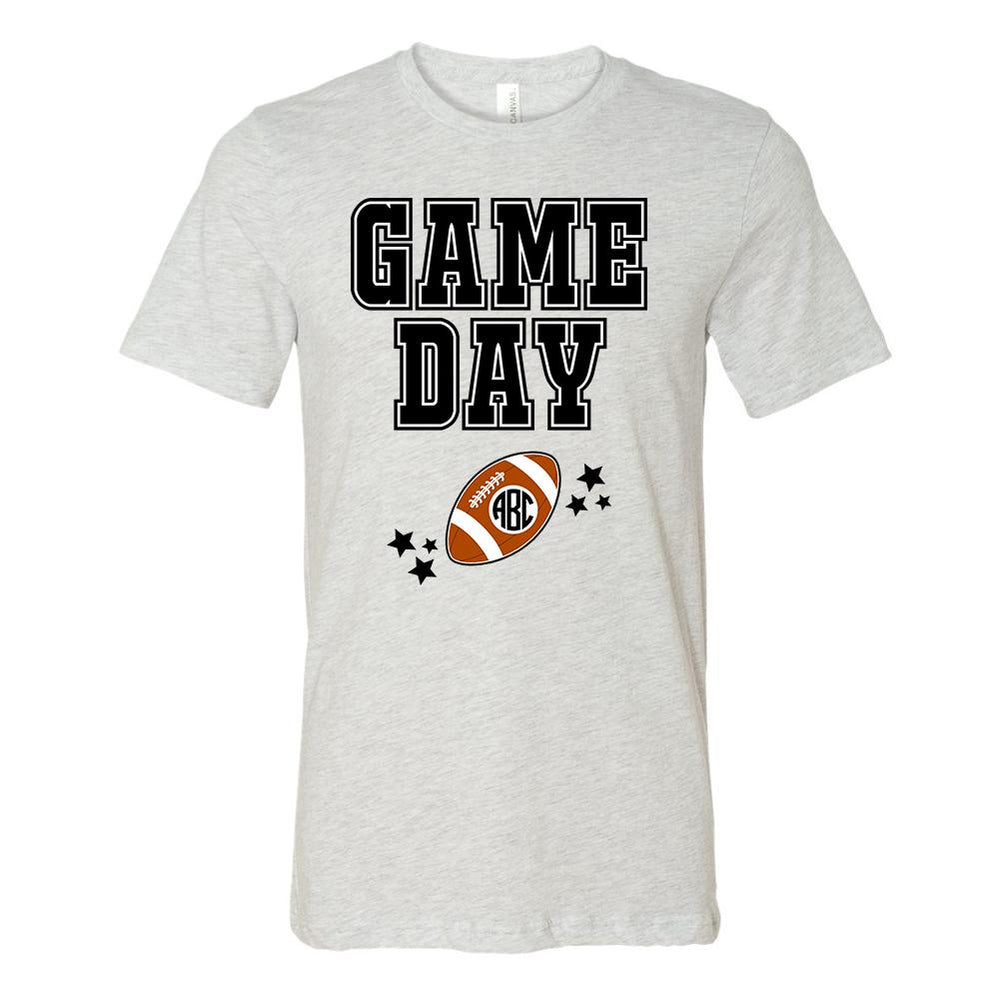 Monogrammed Game Day Football Tee
