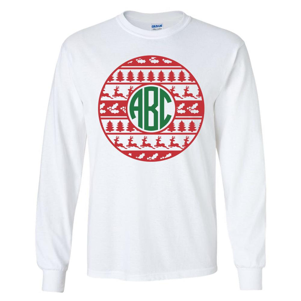 Christmas- Ugly Sweater with Monogram