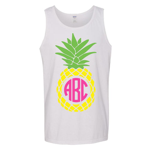 Monogrammed 'Pineapple' Tank Top