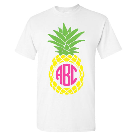 Monogrammed Pineapple T-Shirt