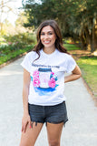 Monogrammed Happiness In A Cup Coffee T-Shirt