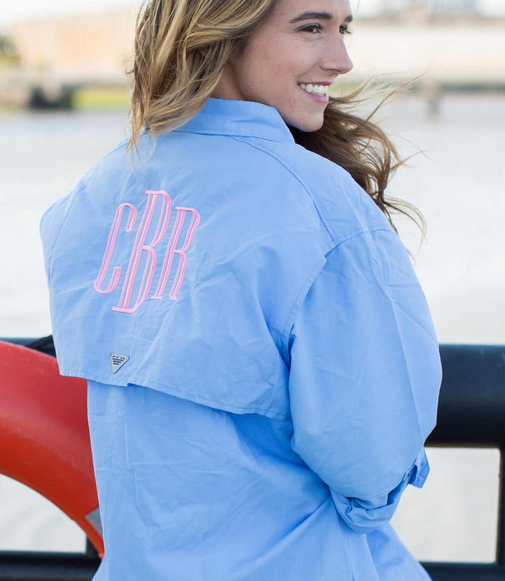 Monogrammed Columbia PFG Ladies Long Sleeve Fishing Shirt