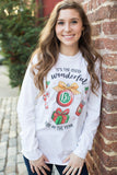 Monogrammed Holiday 'Most Wonderful Time' Long Sleeve T-Shirt