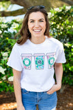 Monogrammed Scrubs & Coffee Nurse Floral T-Shirt