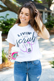 Monogrammed Livin' The Scrub Life Nurse T-Shirt