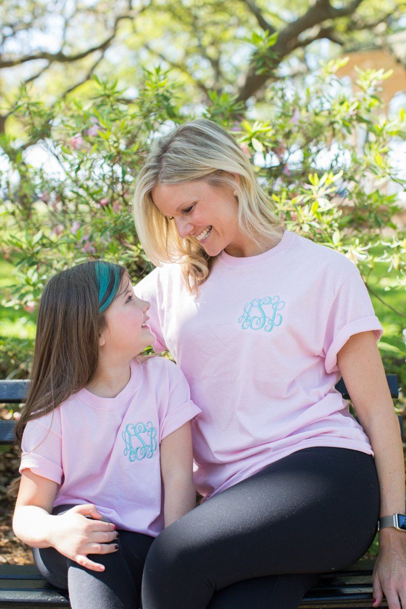 Monogrammed Mommy & Me Package T-Shirts