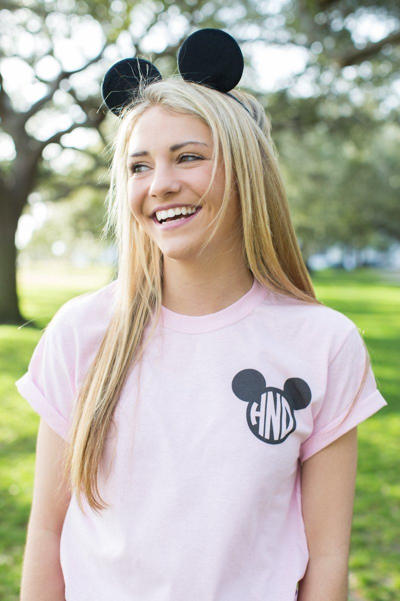 Monogrammed Minnie/Mickey Mouse Disney T-Shirt Hannah Nybo