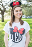 Monogrammed Minnie/Mickey Mouse Disney T-Shirt Lauren Espy