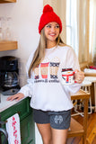 Monogrammed Winter Holiday Lounge Set Coffee & Coziness Sweater