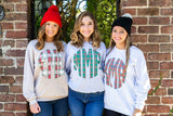 Monogrammed Christmas Plaid Sweatshirt