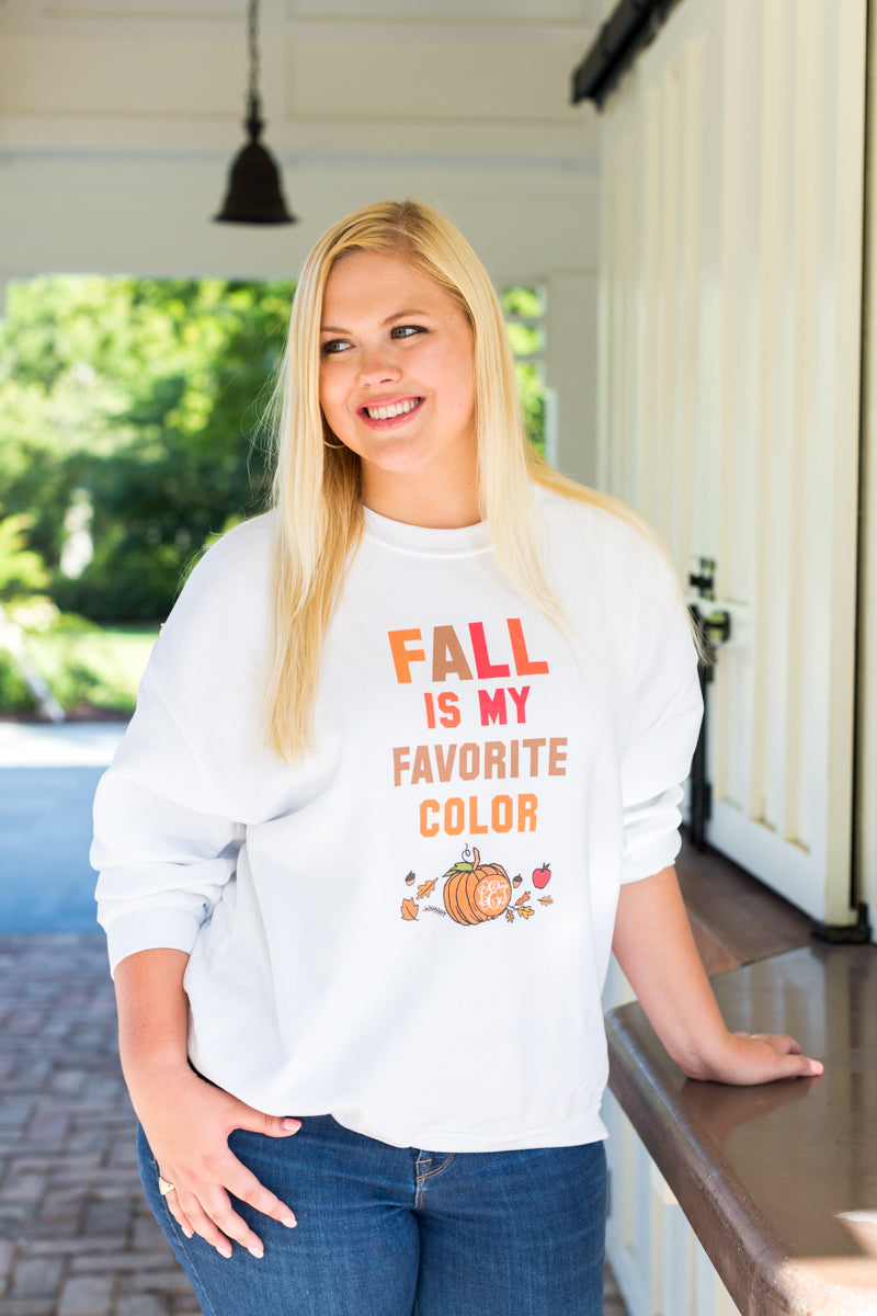 Monogrammed Fall Is My Favorite Color Sweatshirt