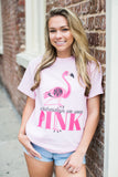 Monogrammed On Wednesdays We Wear Pink Flamingo T-Shirt