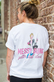 Monogrammed Messy Bun & Gettin' Stuff Done Front & Back Comfort Colors T-Shirt