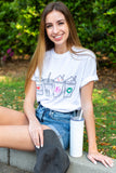 Monogrammed Coffee Lover Tee