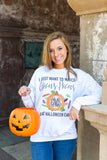 Monogrammed I Just Want to Watch Hocus Pocus & Eat Halloween Candy Sweatshirt