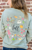Monogrammed Front & Back Fall Bucket List Long Sleeve Shirt