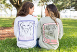 Monogrammed Proud Dog Mom Front & Back Long Sleeve Shirt