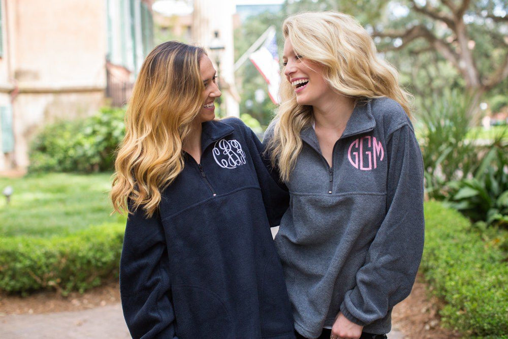 Monogrammed Quarter Zip Fleece