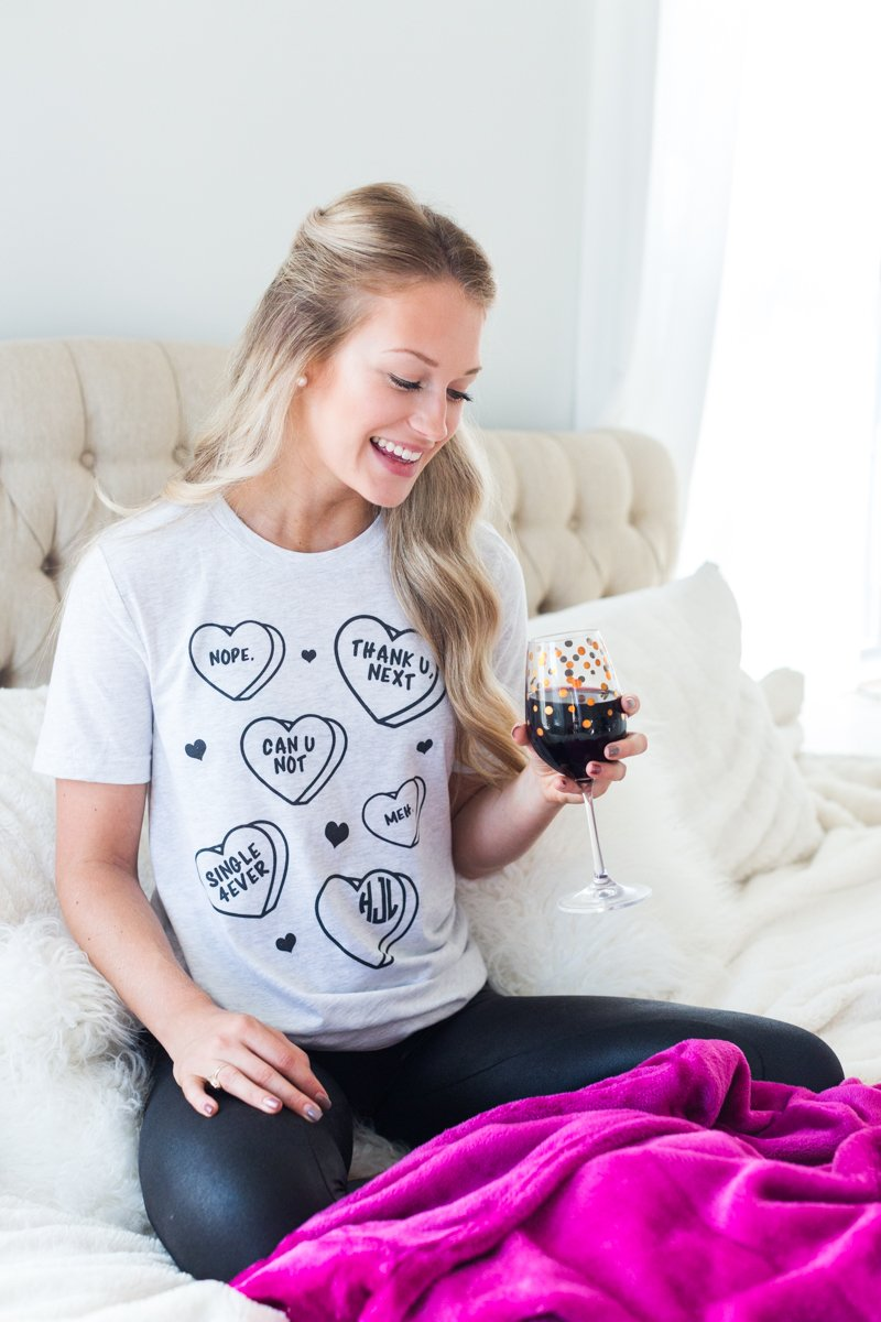 Monogrammed Single Anti-Valentine's Day Tee