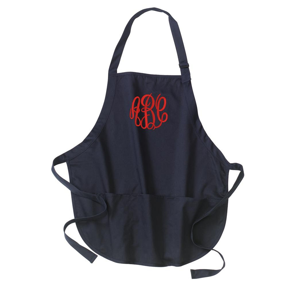 Monogrammed Apron Kitchen Cooking Gardening