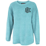 Monogrammed Washed Corded Crew
