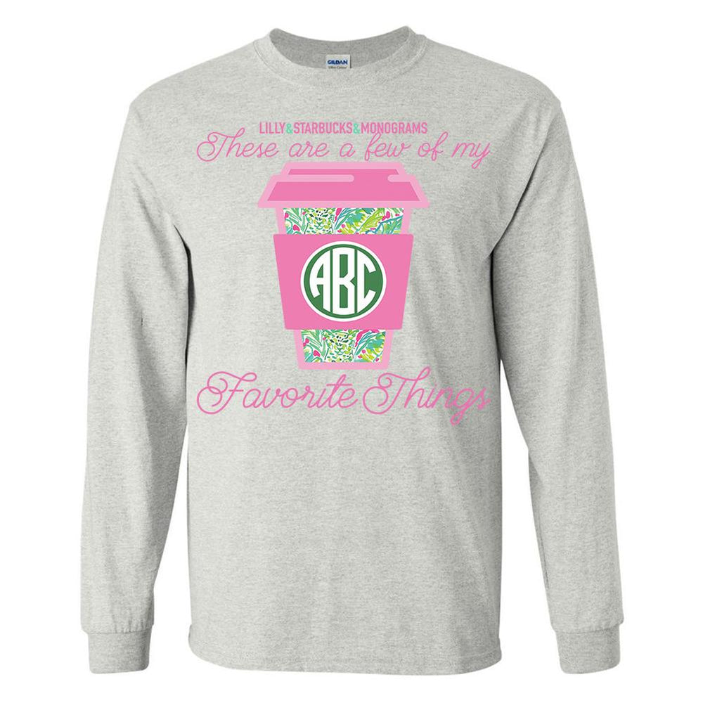 Monogrammed 'Few of My Favorite Things' Long Sleeve T-Shirt