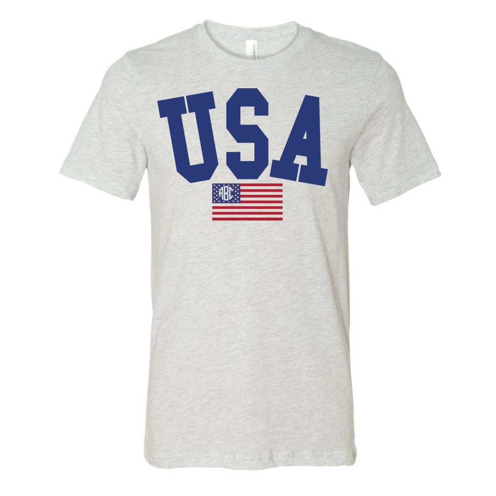 Monogrammed USA Classic Tee Fourth of July