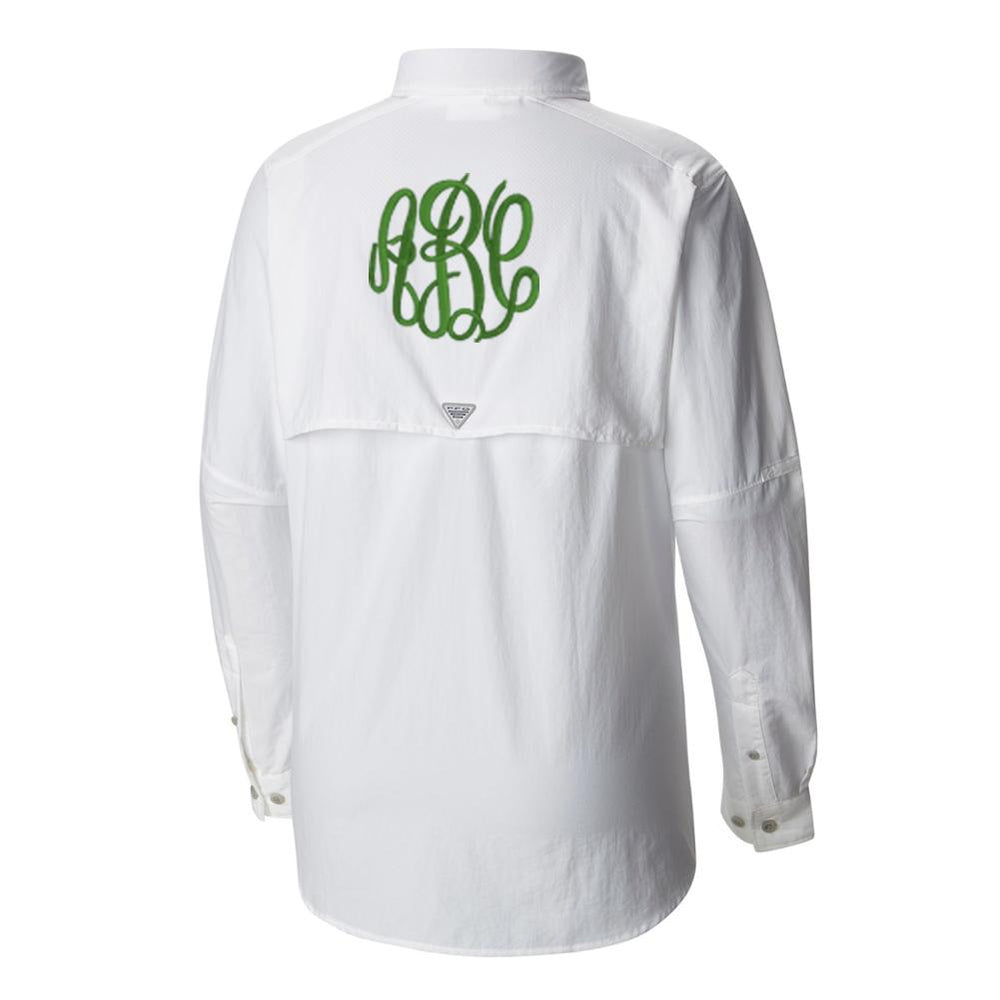 Monogrammed Columbia PFG Long Sleeve Fishing Shirt Lake Boat Beach