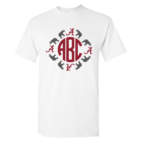 Monogrammed Alabama T-Shirt
