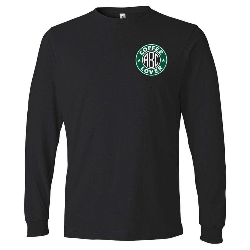 Monogrammed Coffee Lover Premium Long Sleeve T-Shirt