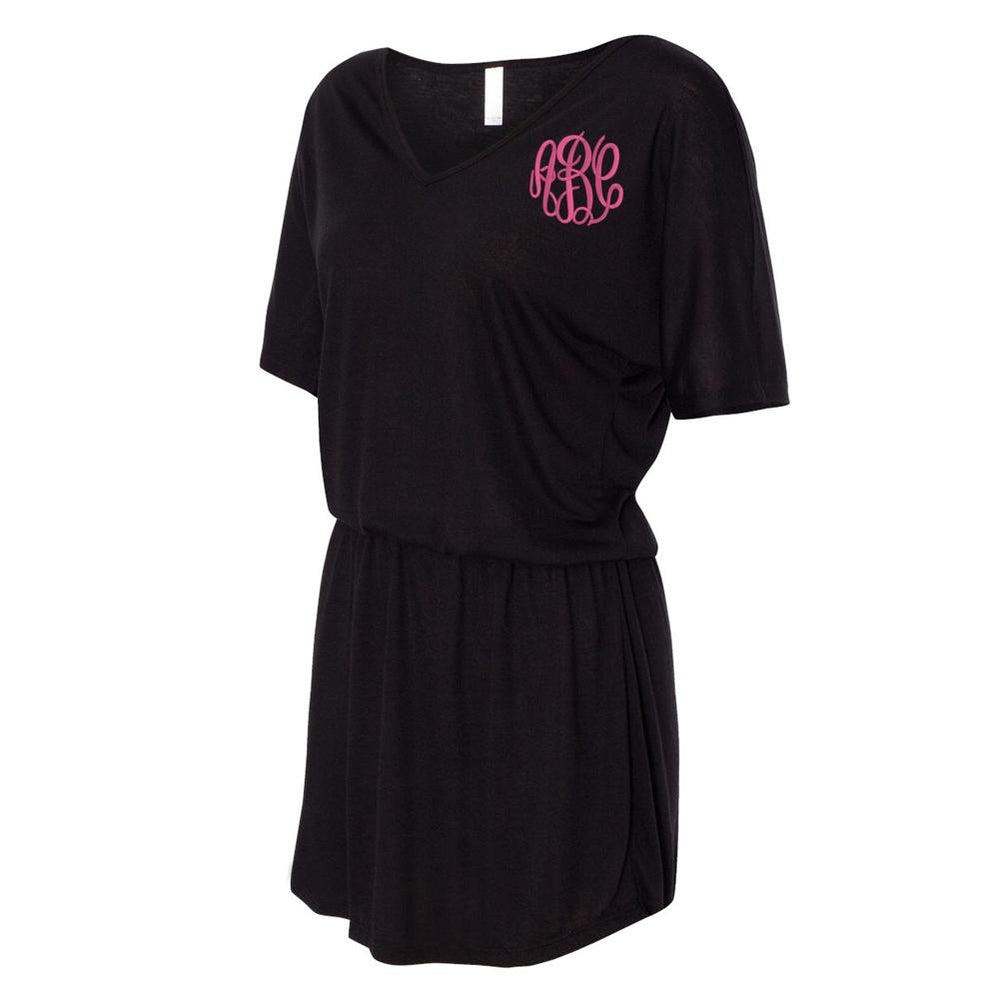 Monogrammed Summer Flowy V-Neck Dress