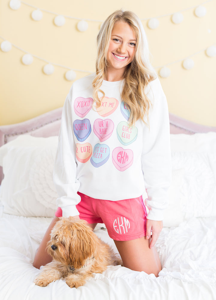 Cute Monograms & Puppies Sweatshirt