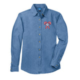 Monogrammed 'Candy Cane' Denim Shirt