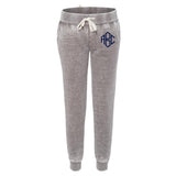 Monogrammed Acid Wash Fleece Joggers