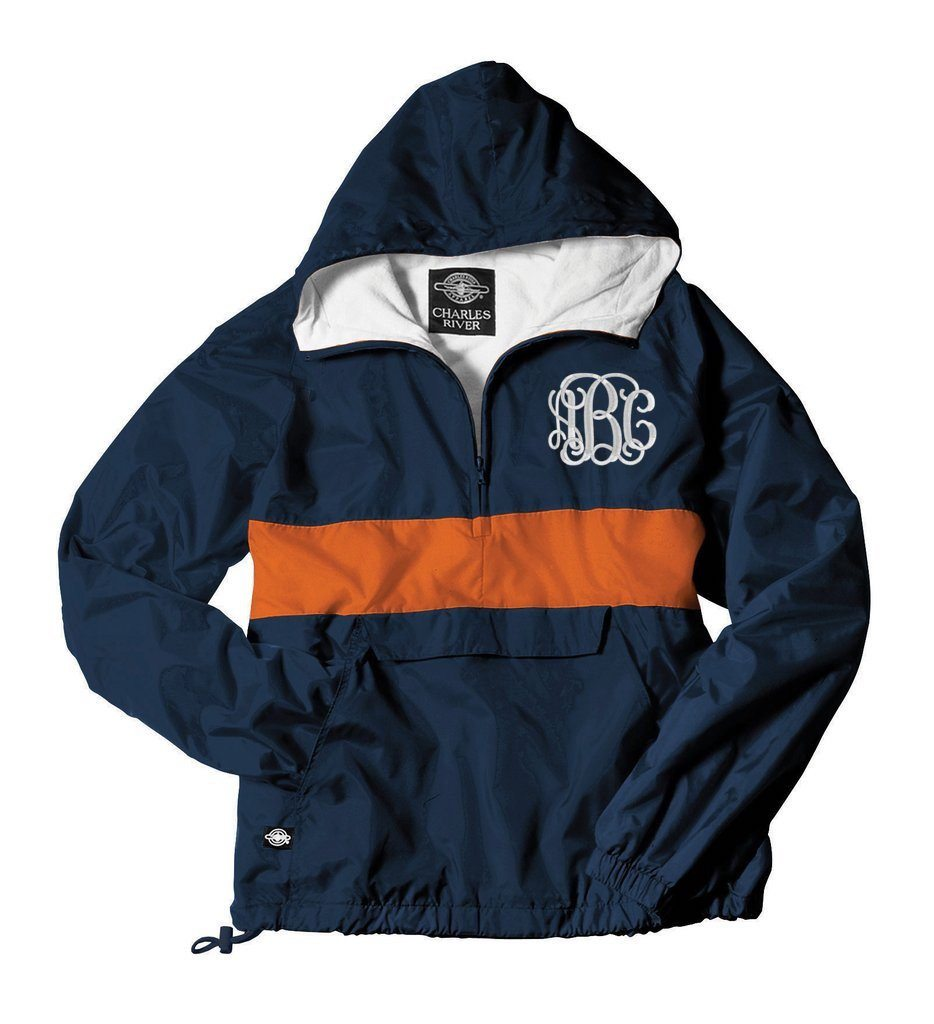 rain jacket with monograms