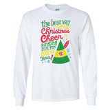 Monogrammed Elf Movie Christmas Cheer Quote Shirt