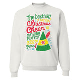 Monogrammed Elf Movie Christmas Cheer Quote Sweatshirt