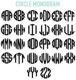 United Monograms Circle Font
