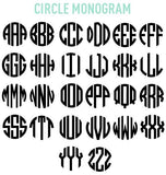Monogrammed 'Striped' Big Print Tank Top