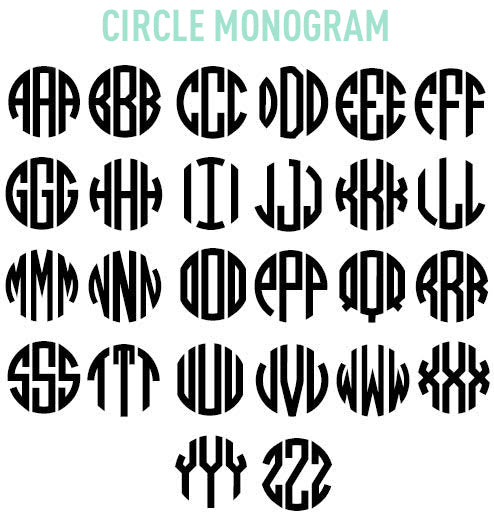 Monogrammed Options
