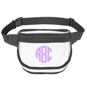 Monogrammed Clear Fanny Pack