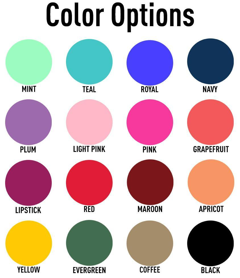United Monograms Color Options