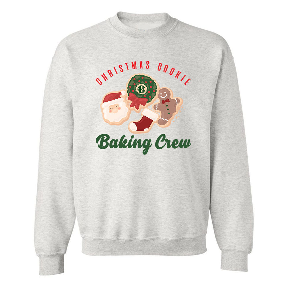 Monogrammed 'Christmas Cookie Baking Crew' Crewneck Sweatshirt