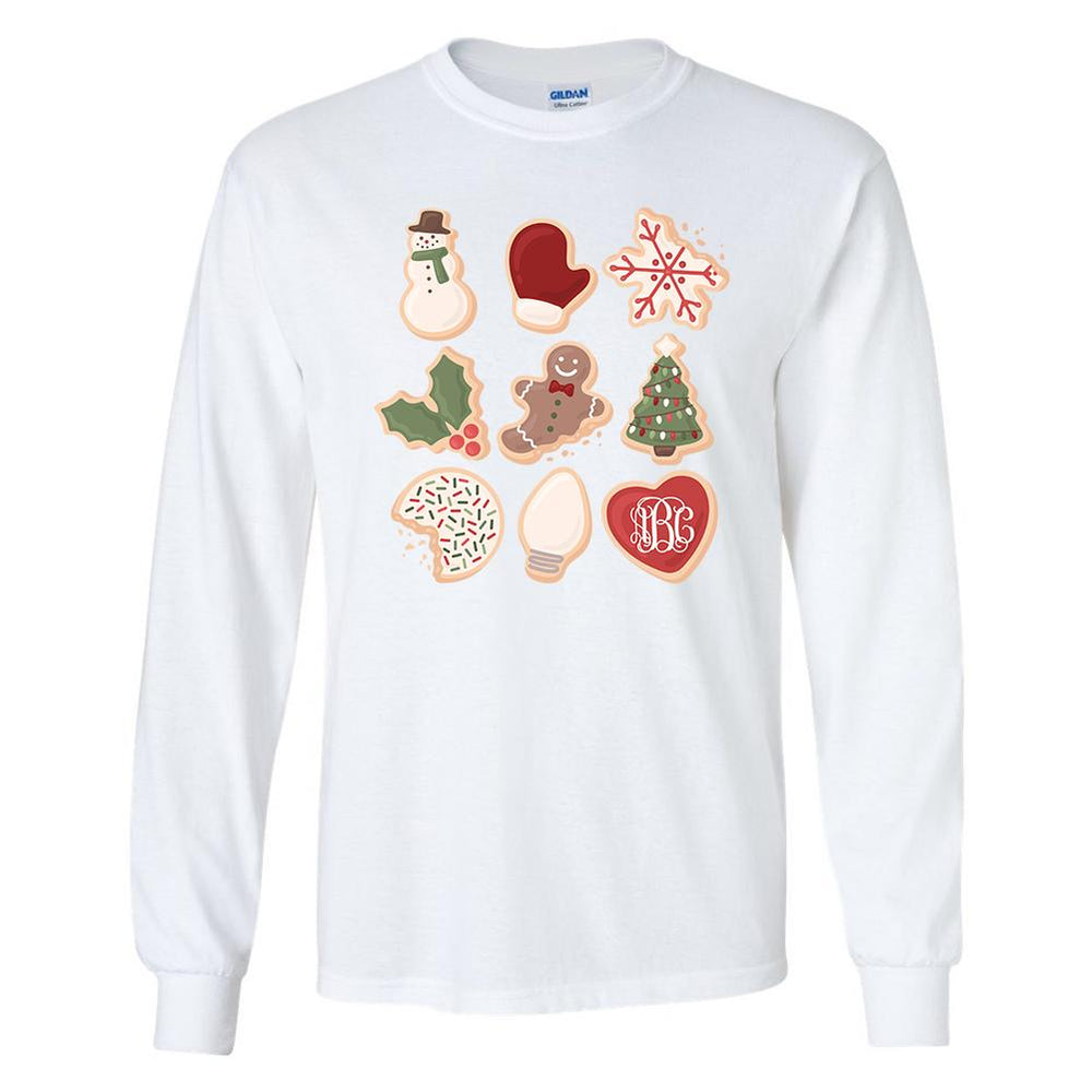 Monogrammed Christmas Cookies Shirt Holidays