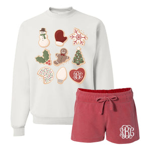 Monogrammed Christmas Cookies Lounge Set