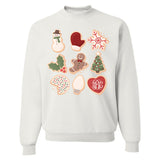 Monogrammed Christmas Cookies Sweatshirt Holiday